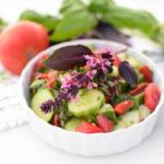 Garden Fresh Tomato Cucumber Salad