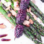 Balsamic Grilled Asparagus & Blackberries with Almonds