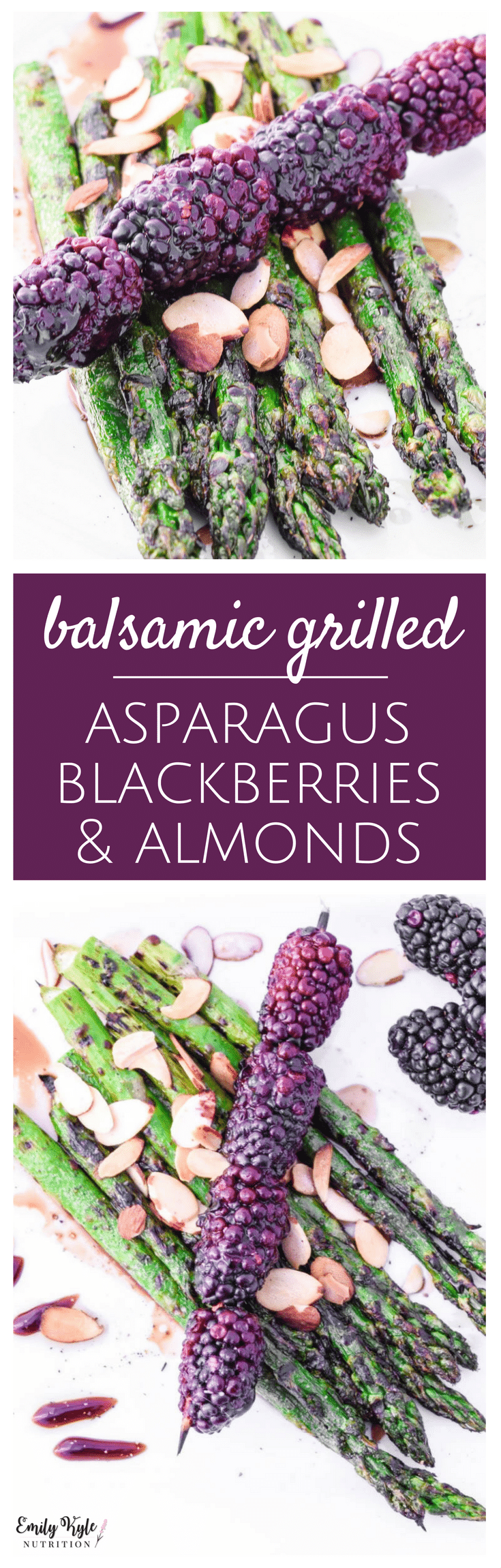 Wake up your taste buds and celebrate the return of spring with this fresh and delicious Balsamic Grilled Asparagus & Blackberries with Almonds dish!