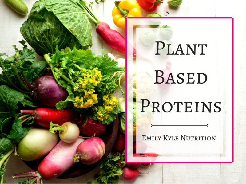 Plant Based Proteins by Emily Kyle Nutrition