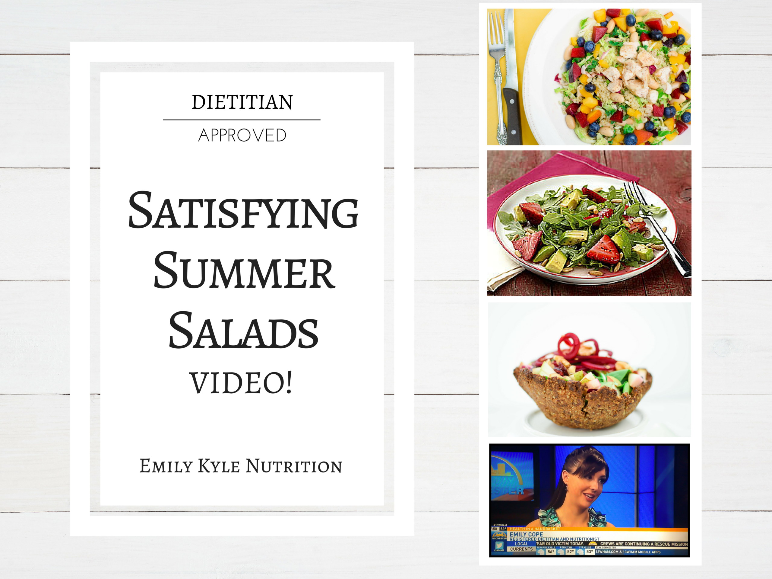 Registered dietitian nutritionist Emily Kyle visits the set of Good Day Rochester to share with you the best Satisfying Summer Salads of the season! | @Emily Kyle Nutrition