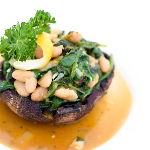Greens & Beans Stuffed Portabella Mushrooms