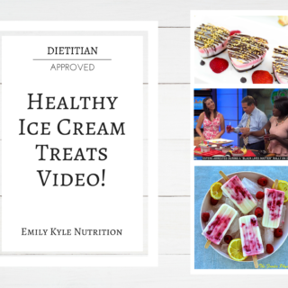 Celebrate National Ice Cream Month with these Healthy Ice Cream Treats in this new video from @EmKyleNutrition