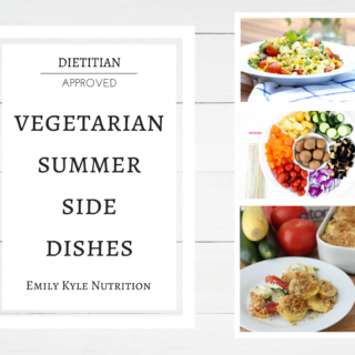 Up your veggie intake with the 9 BEST vegetarian summer side dish recipes from registered dietitian nutritionist! | @EmKyleNutrition