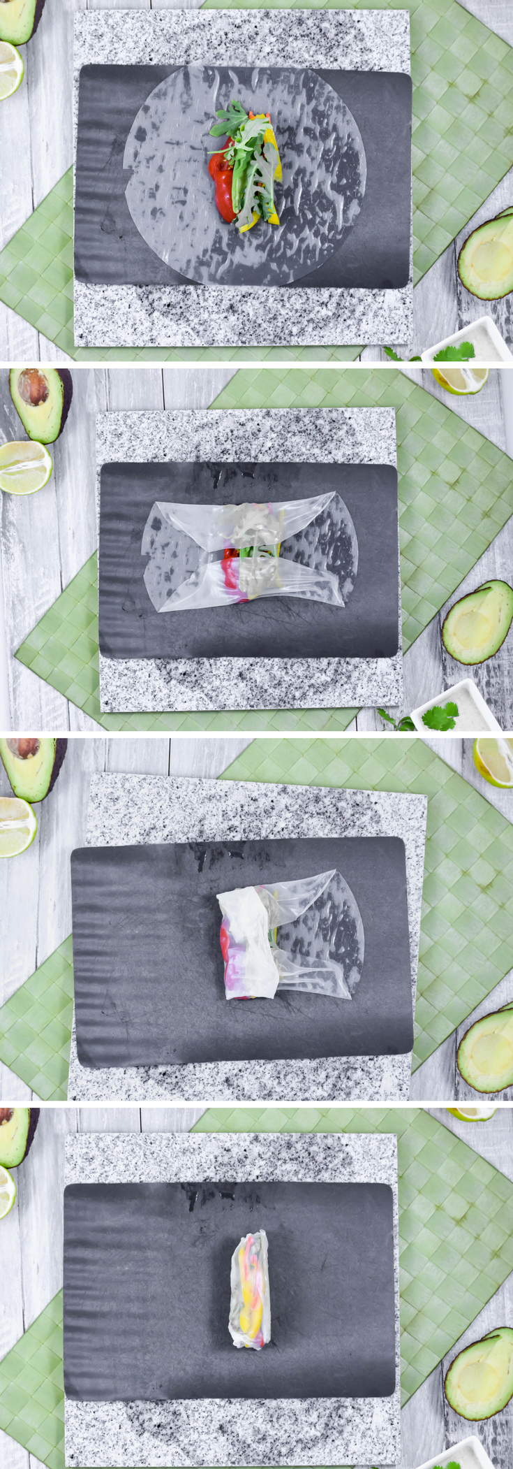 Step by Step Guide to Rolling Fresh Spring Rolls by Emily Kyle Nutrition