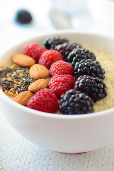 Berry Quinoa Breakfast Bowl by Emily Kyle Nutrition FB