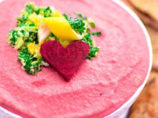 Pink Gremolata Hummus by Emily Kyle Nutrition