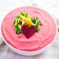 Pink Gremolata Beet Hummus