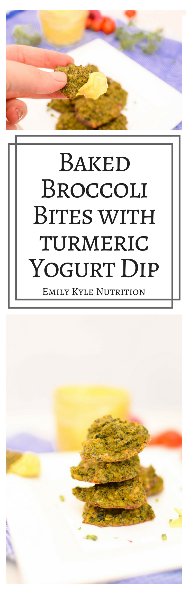 Move over tater-tots, these Baked Broccoli Bites with a vibrant Turmeric Yogurt Dip will turn anyone in the family into a veggie lover!