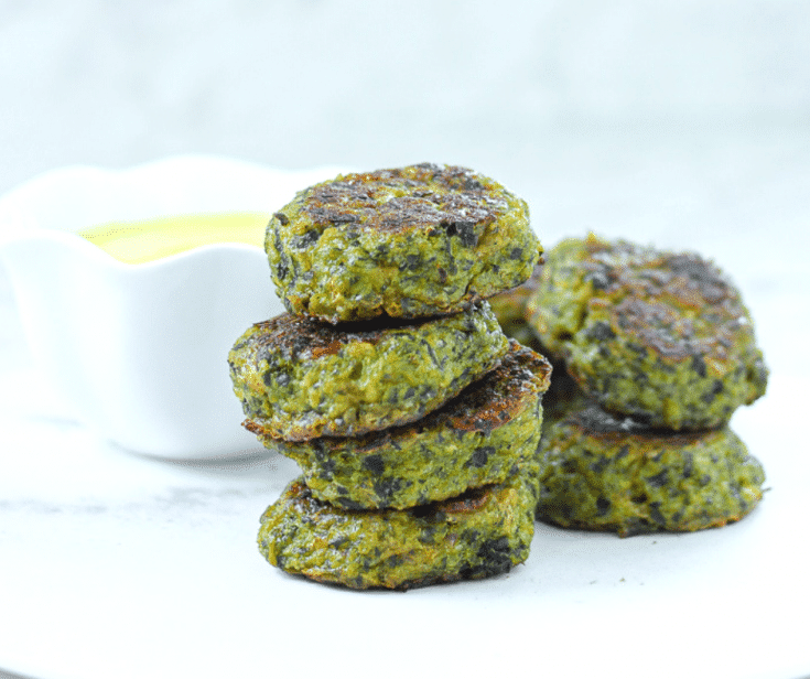 Baked Broccoli Bites with Turmeric Yogurt Dip