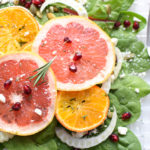 Perk up the season with this immune boosting Winter Citrus Fruit Salad with a quick & easy 5-minute Pomegranate Rosemary Vinaigrette!