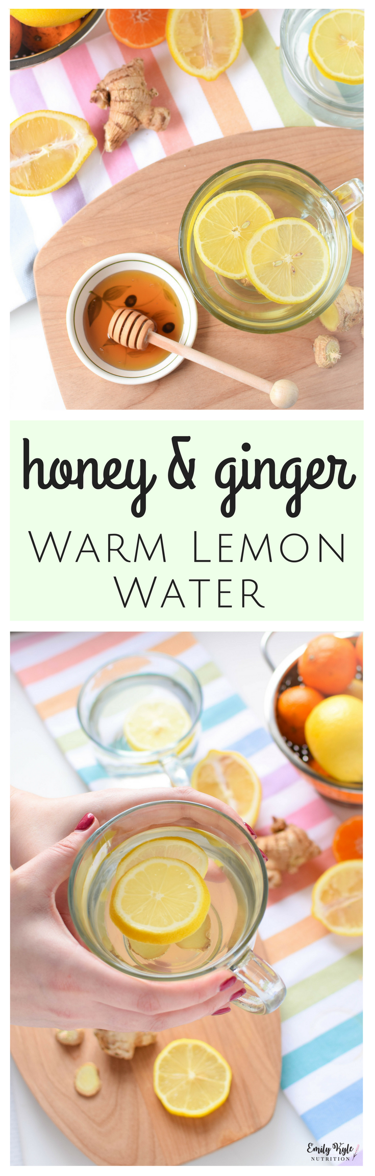 Stay hydrated and give your immune system a gentle boost to fend off common winter ailments with this naturally soothing Honey & Ginger Warm Lemon Water.