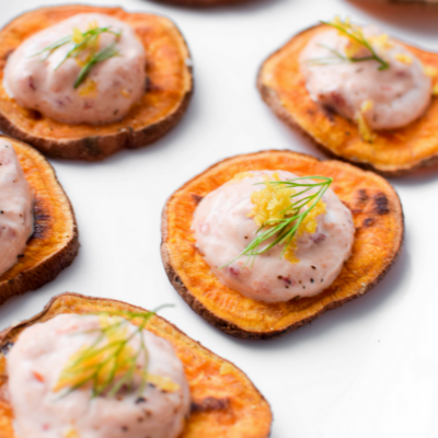 Lemon & Chili Pepper Sweet Potato Toast by Emily Kyle Nutrition