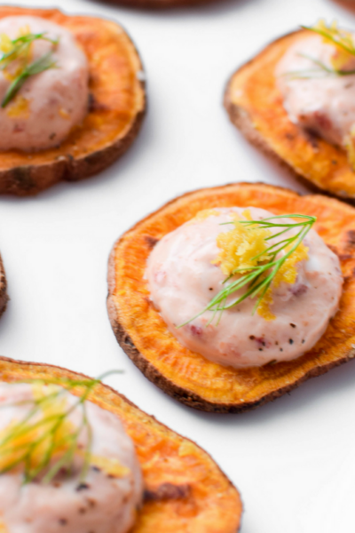Lemon & Chili Pepper Sweet Potato Toast by Emily Kyle Nutrition