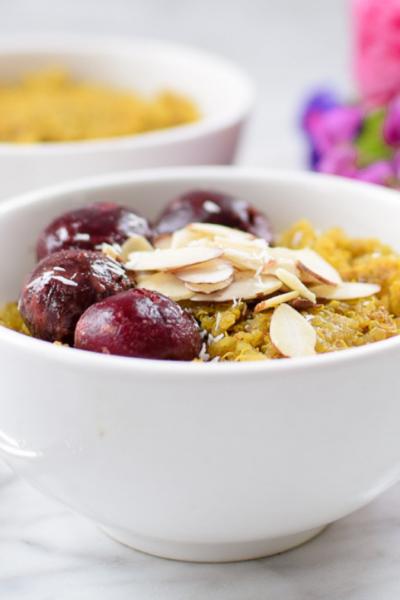 Instant Pot Golden Milk Quinoa Bowl by Emily Kyle Nutrition