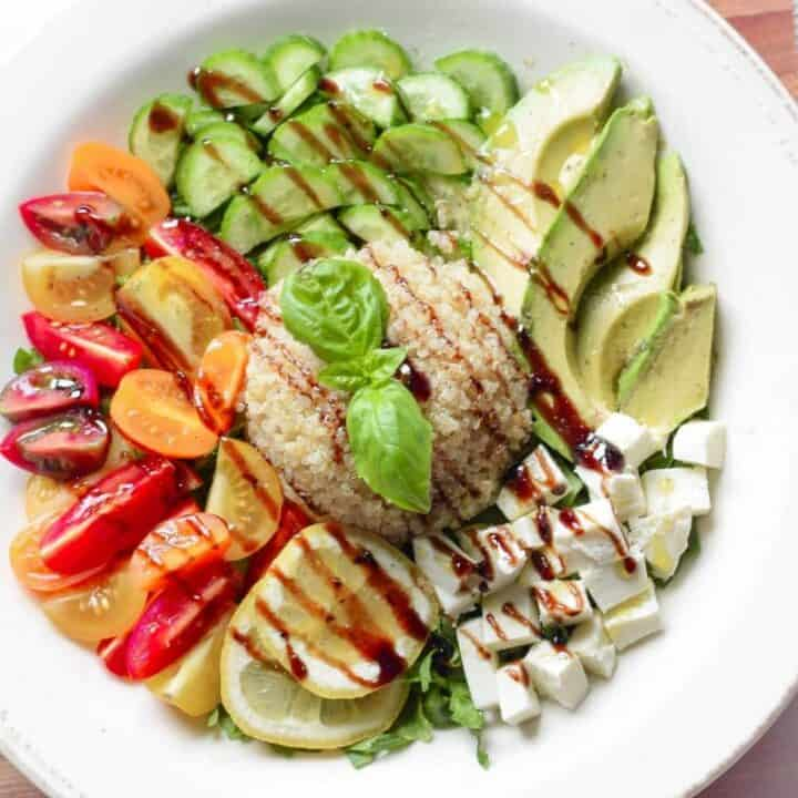 Caprese Salad Grain Bowl