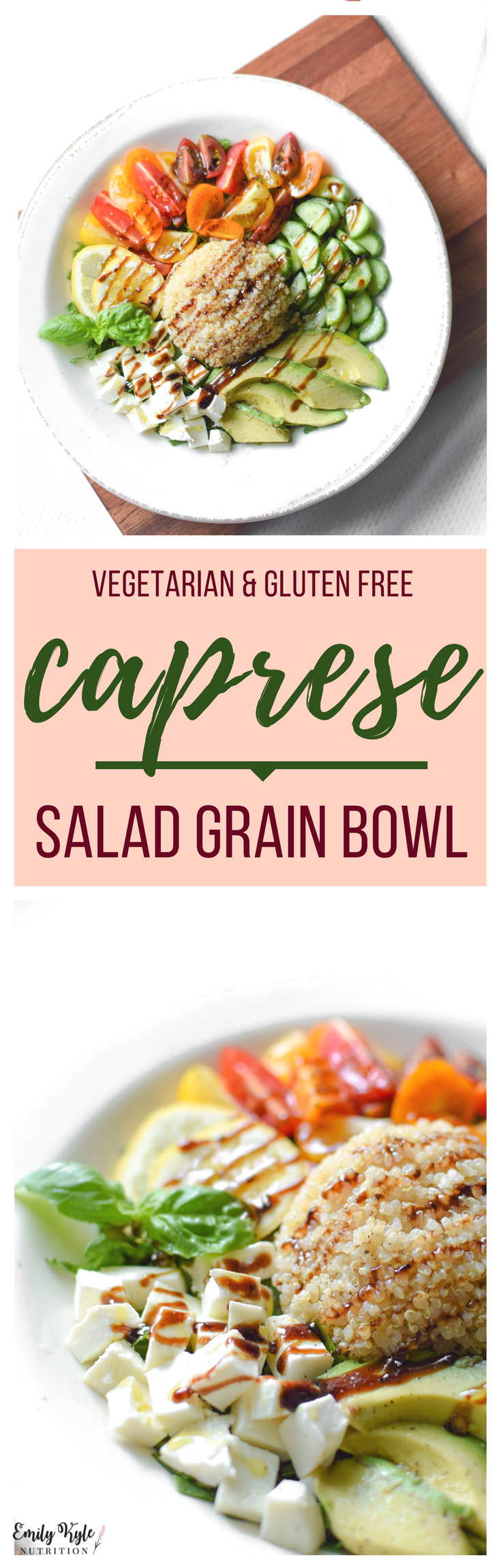 Whether it is for breakfast, lunch, or dinner, everyone will love this fresh, savory and naturally gluten-free Caprese Salad Grain Bowl anytime of the day!