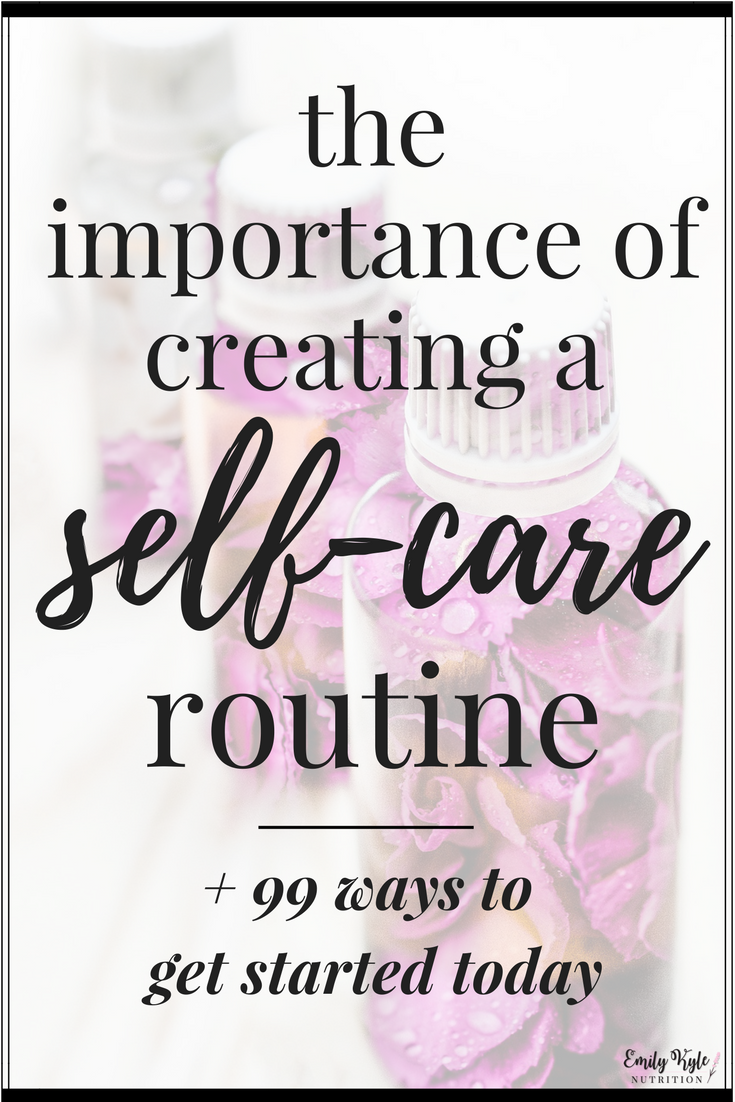 Find out why you should have a self-care routine and how you can get started in creating your own happy & healthy self-care routine today!