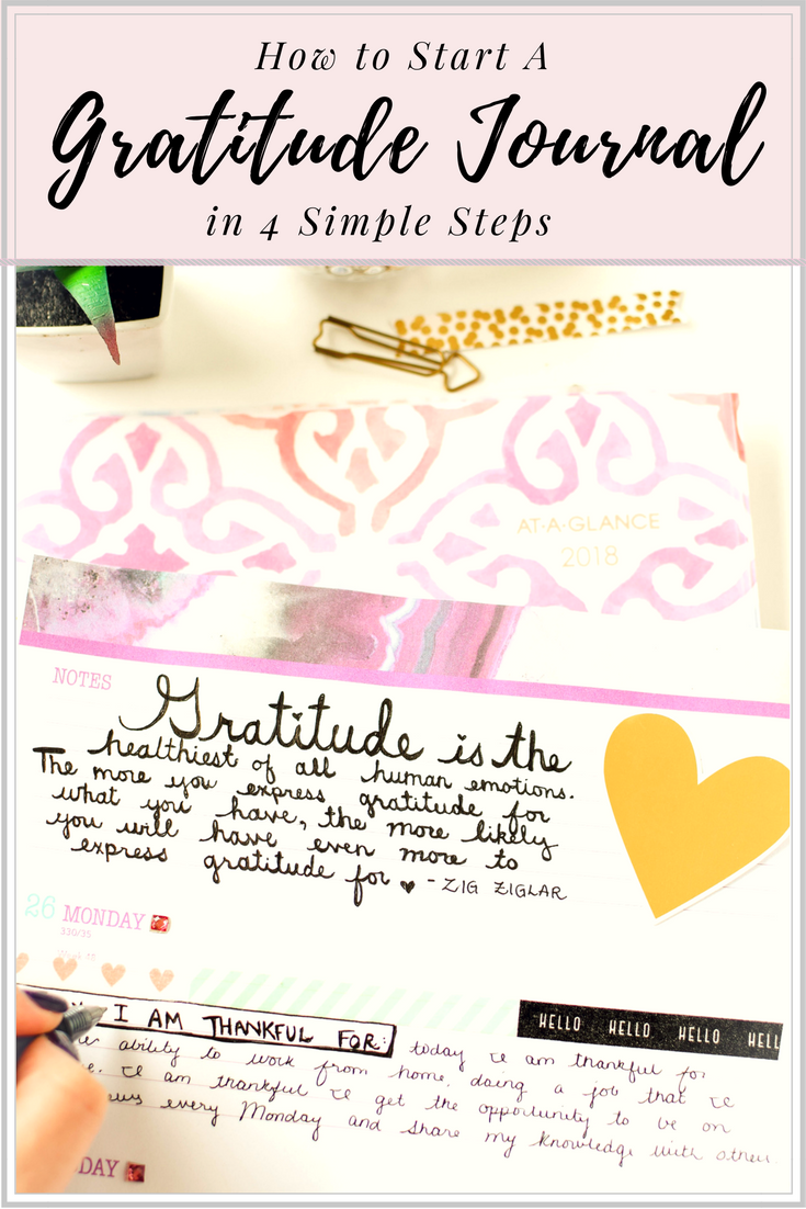 Learn How to Start a Gratitude Journal with these 4 Simple Steps and learn how you can reap the physical and psychological health benefits of this practice.