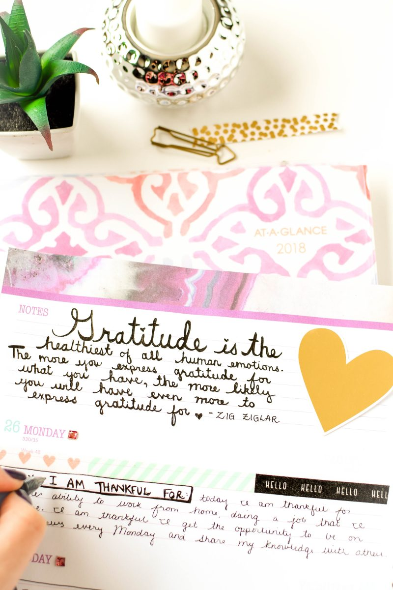 How to Start a Gratitude Journal by Emily Kyle Nutrition