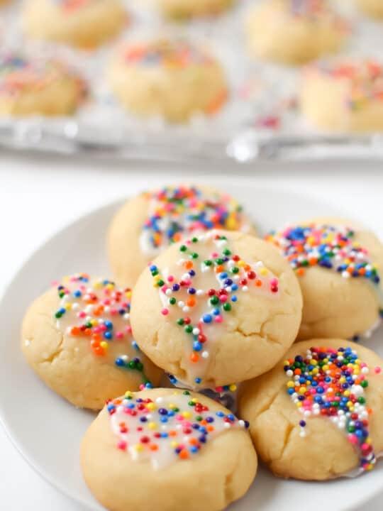 Italian Spritz Cookies with Anise