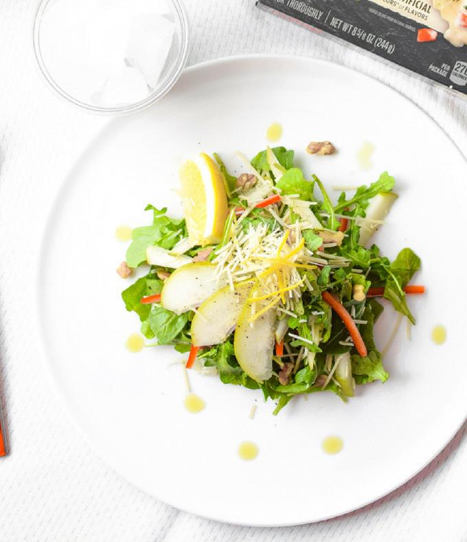 Citrus Pear & Arugula Salad + Perfect Pairings for a Balanced Plate