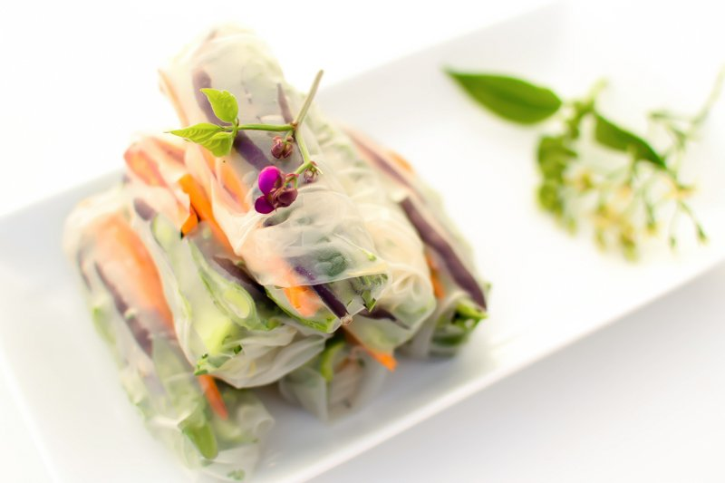 Step by Step Guide to Rolling Fresh Spring Rolls from Emily Kyle Nutrition