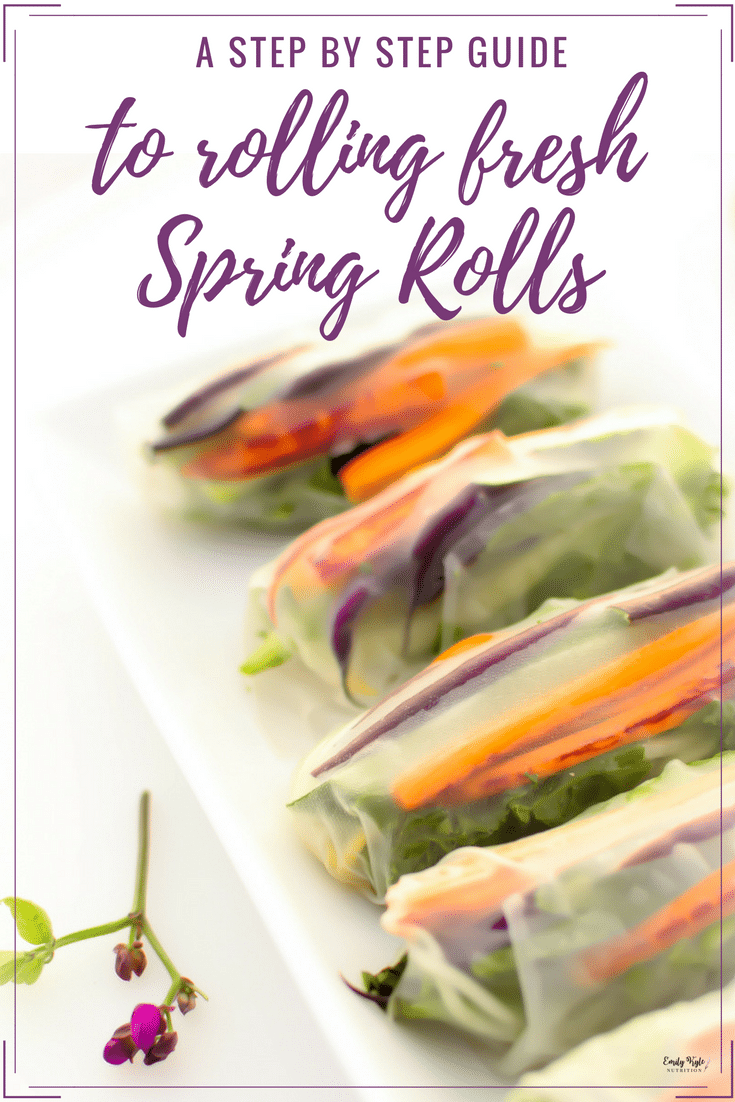 Start with this Step by Step Guide to Rolling Fresh Spring Rolls and skip the headache of learning how to roll them on your own, so you can have perfect rolls every single time!