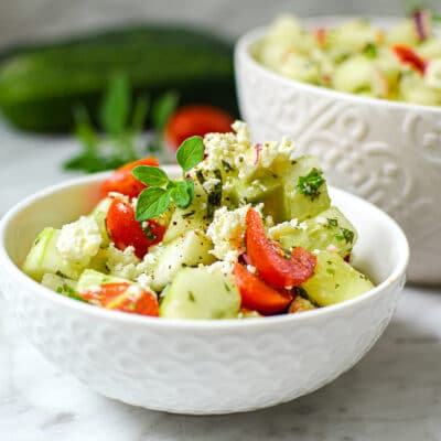 Mediterranean Greek Cucumber Salad