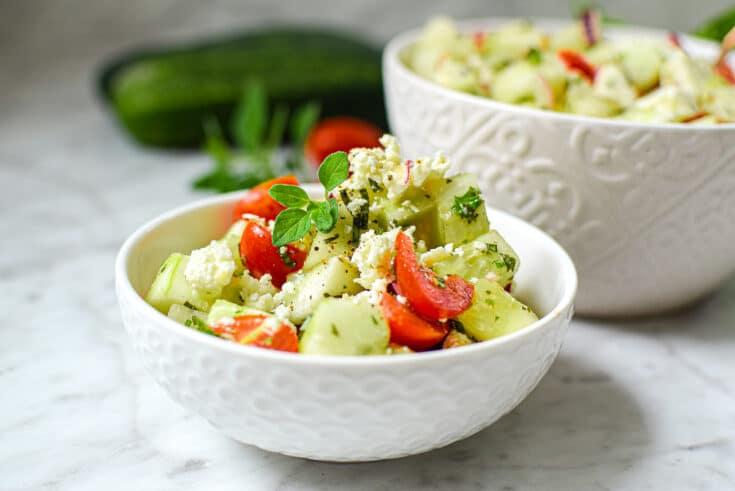 Mediterranean Greek Cucumber Salad