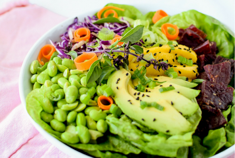 Korean Bulgogi Beef Salad Bowl by Emily Kyle Nutrition