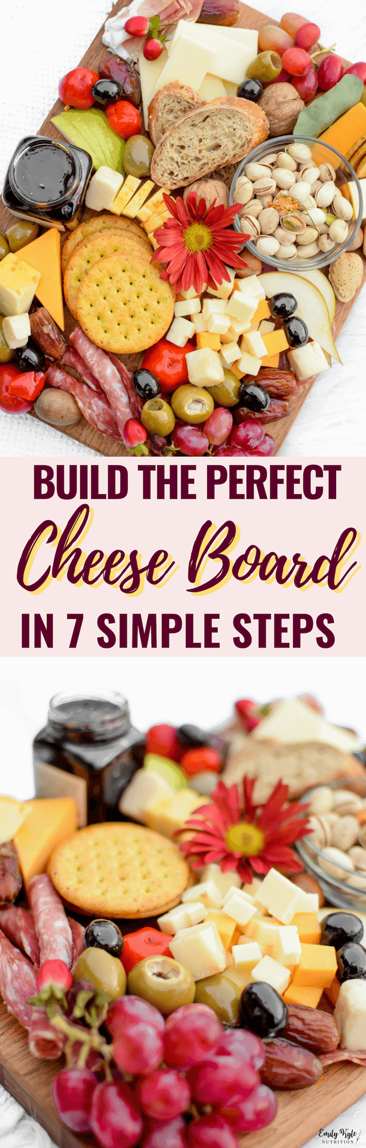 Create your own customized cheese board with a vegetarian option by following these 7 Steps to Building the Perfect Cheese Board!
