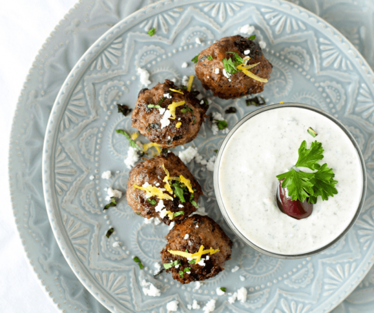 Greek Lamb Meatballs + Nourish With Lamb