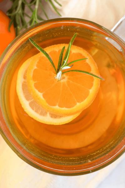 Mandarin Orange & Rosemary Hot Toddy by Emily Kyle Nutrition