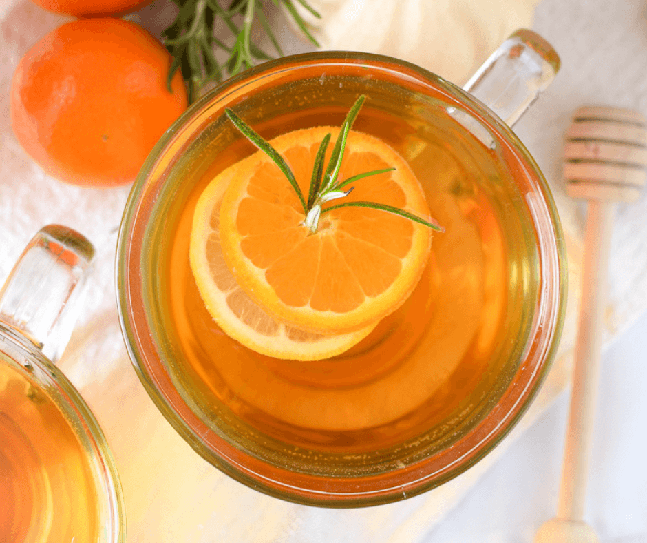 Mandarin Orange & Rosemary Hot Toddy by Emily Kyle Nutrition