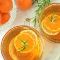 Mandarin Orange & Rosemary Hot Toddy