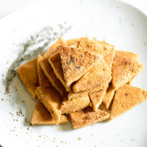 Crispy Baked Cannabis Tofu Bites