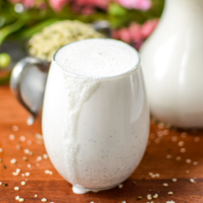 Easy Homemade Hemp Seed Milk + Nutrition Benefits