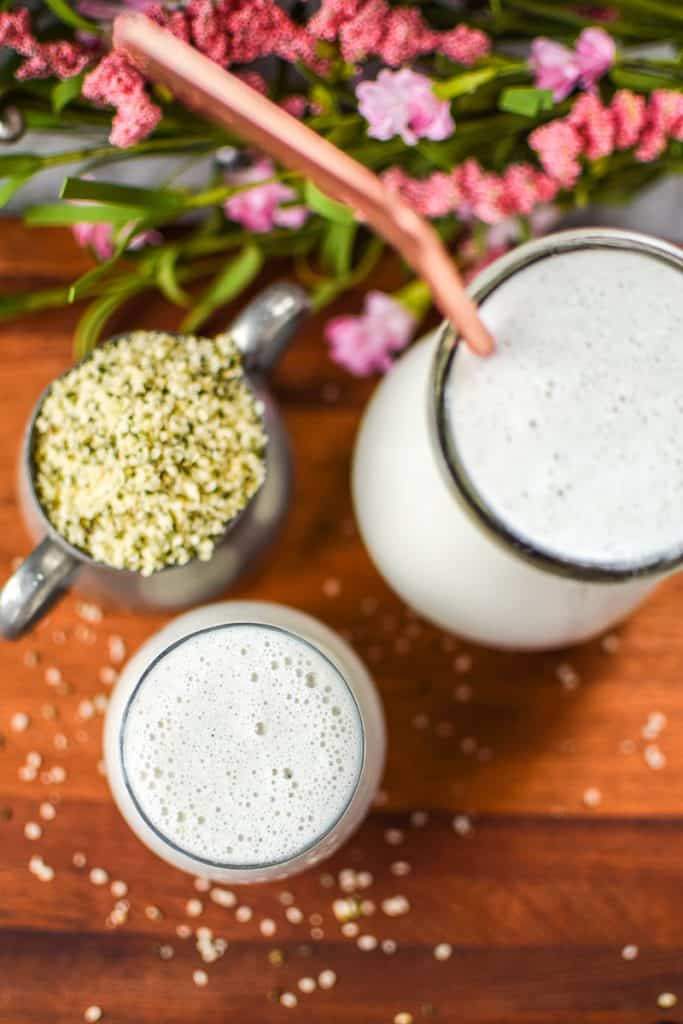 Homemade Hemp Seed Milk by Emily Kyle Nutrition