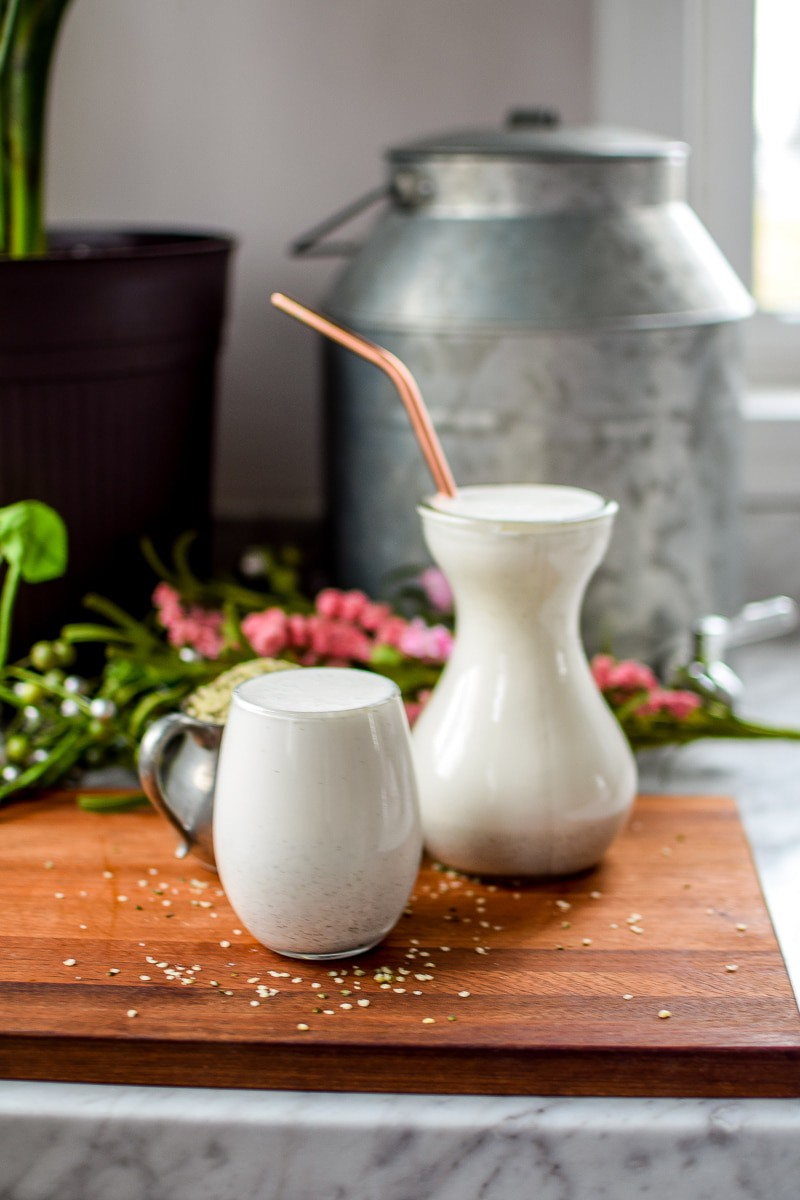 Homemade Hemp Seed Milk by Emily Kyle Nutrition