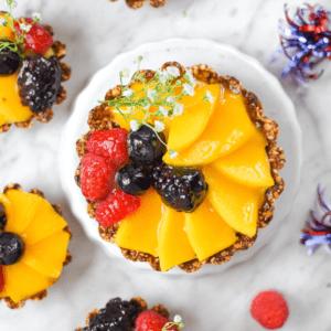 Cannabis Mango Fruit Tart