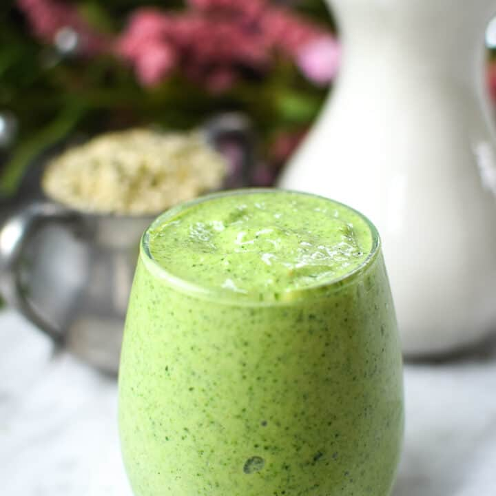 Green Dream Hemp Seed Smoothie by Emily Kyle Nutrition