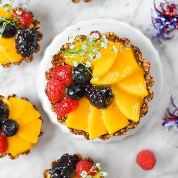Mini-Mango Fruit Tart