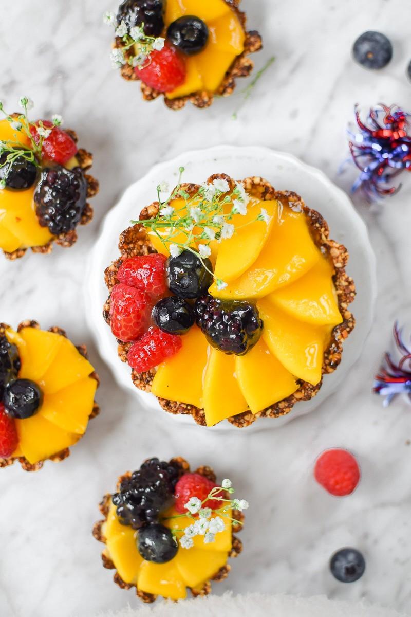 Cannabis Mango Fruit Tarts