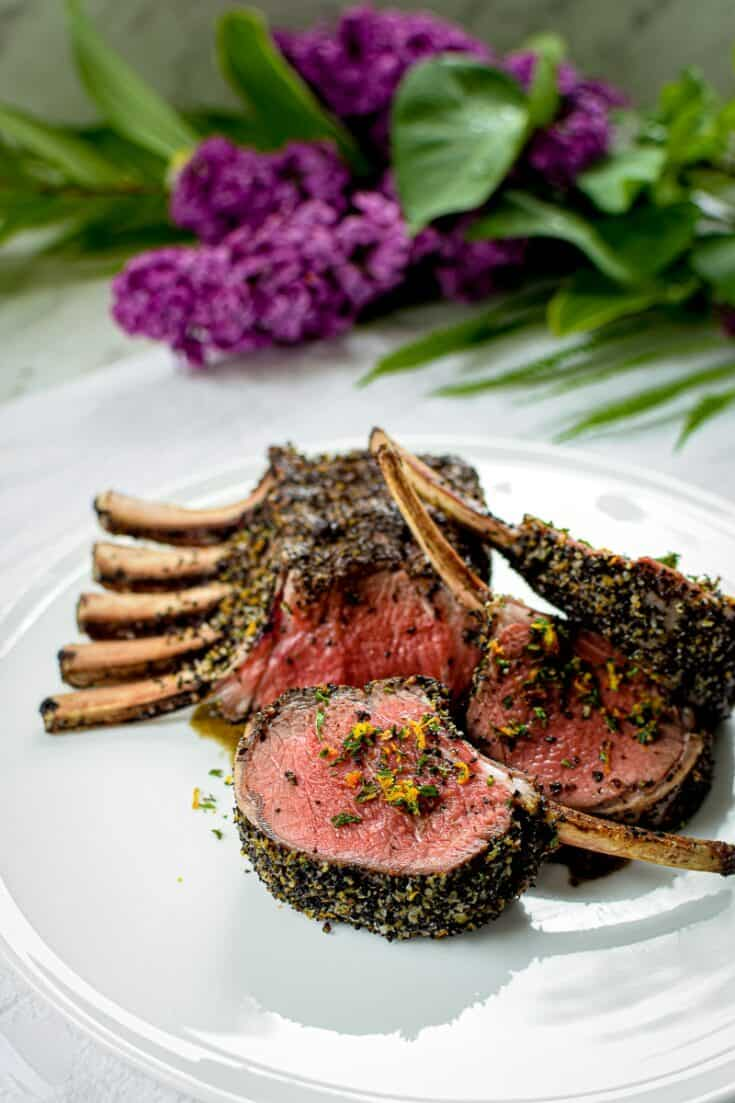Black Tea & Orange Rubbed Roasted Rack of Lamb