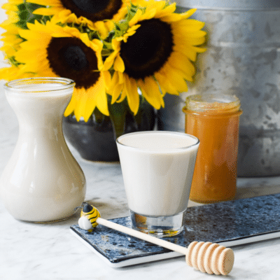 Homemade Sunflower Seed Milk (Dairy-Free, Paleo)