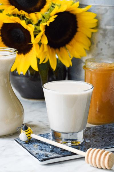 Homemade Sunflower Seed Milk from Emily Kyle Nutrition