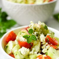 Garden Fresh Greek Cucumber Salad