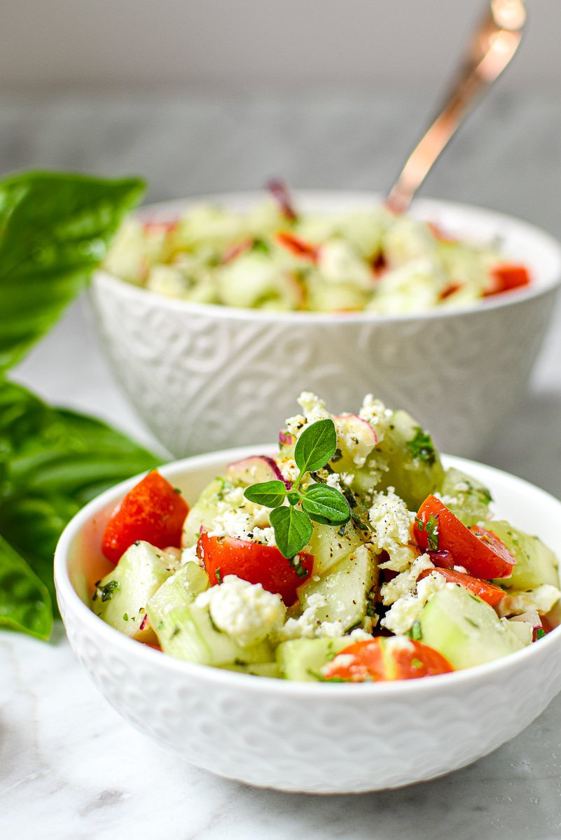 Cannabis-Infused Tomato Cucumber Salad