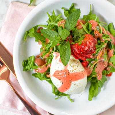CBD Infused Vinaigrette with Strawberry Burrata Salad